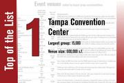 No. 1 on the List is the Tampa Convention Center.