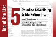 No. 5 on the List is Paradise Advertising & Marketing Inc.
