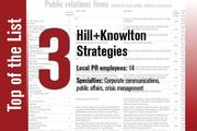 No. 3 on the List is Hill+Knowlton Strategies.