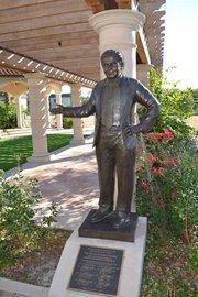 The statue of Temple Terrace Mayor Joe Affronti