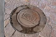 Manhole cover with musical notes