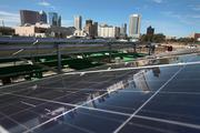 The solar panel system will create energy that will offset the cost of streetlights on site.