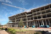 Ella at Encore is a 160-unit senior housing building under construction, part of the first phase of Encore's development.