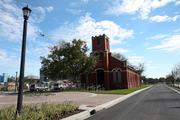 St. James Church on the western edge of the 40-acre site is scheduled to be renovated as part of the project.
