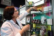 Patti O'Bryant, managing supervisor of Kiehl's new store at Tampa International Airport
