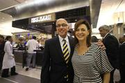Joseph Lopano, CEO of Tampa International Airport, with Maryann Ferenc, owner and proprietor of Mise En Place.