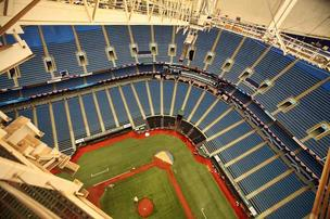 Tropicana Field and Rays baseball.