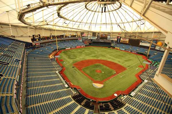 The welcome event inside Tropicana Field in St. Petersburg is slated to promote the region to the international press.