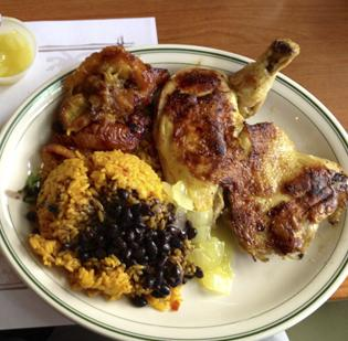An example of a plate of Cuban fare.