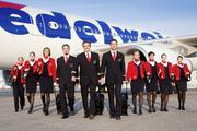 An image from Edelweiss Air showing one of its crews.