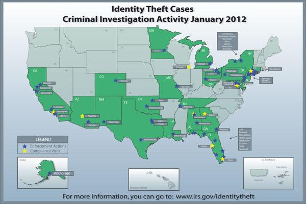 A map shows the nationwide crackdown.