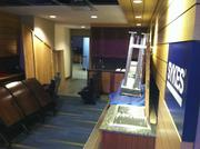 Luxury box seats are being converted into press boxes at the Tampa Bay Times Forum for the Republican National Convention.