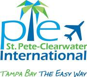 The new logo emphasizes the airport's abbreviation PIE.