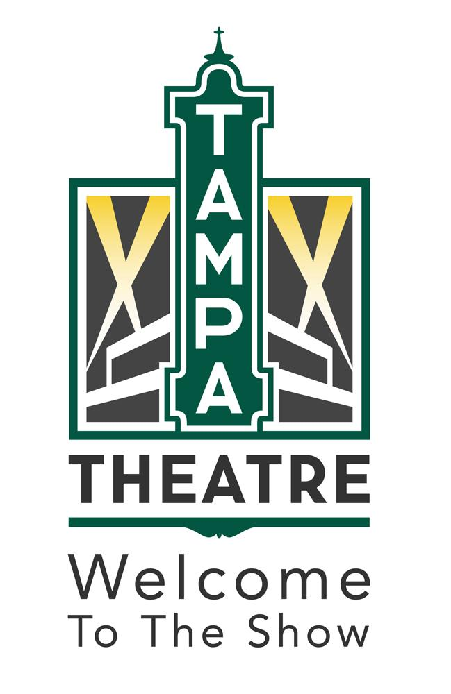 "The new Tampa Theatre logo features the building's blade symbol prominently and the slogan ""Welcome to the Show."""