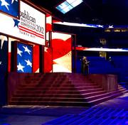 The stage for the Republican National Convention in Tampa.