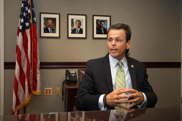 Robert O'Neill in his downtown Tampa office.