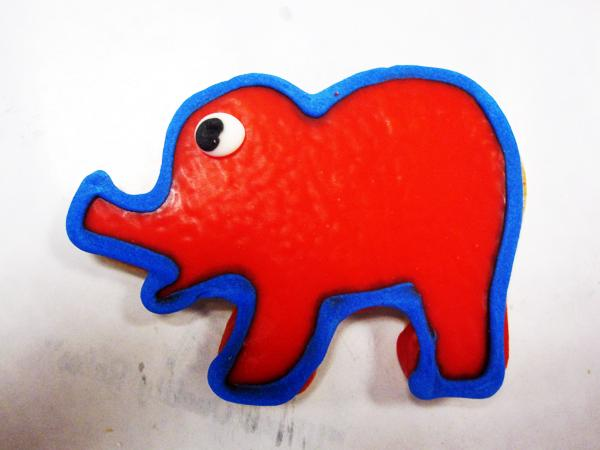 Elephant cookie from Alessi Bakeries