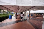 A web of covered walkways guides visitors between the convention center and the Tampa Bay Times Forum.