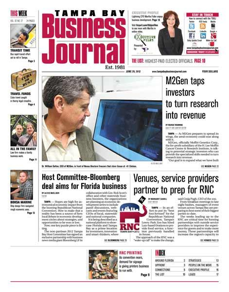The June 29 issue of the Tampa Bay Business Journal