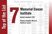 Memorial Cancer Institute is No. 7 on the list.