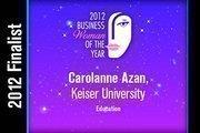 Carolanne Azan is an Education finalist.