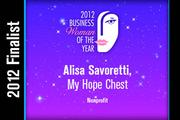 Alisa Savoretti is a Nonprofit finalist.