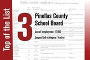 No. 3 on the List is Pinellas County School Board.