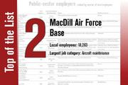 No. 2 on the List is MacDill Air Force Base.