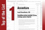 Accenture is No. 1 on the List.
