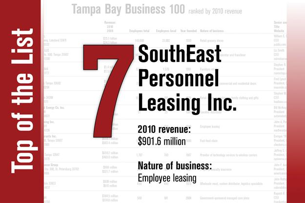 No. 7 on the List is SouthEast Personnel Leasing Inc.