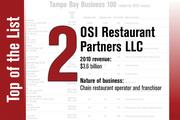 No. 2 on the List is OSI Restaurant Partners LLC.
