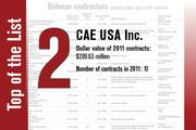 CAE USA Inc. takes the No. 2 spot on the Defense contractors List.
