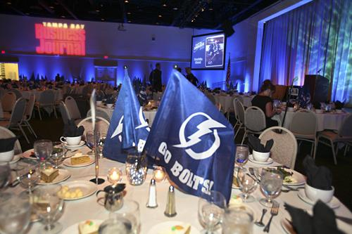 The A La Carte Event Pavilion in Tampa before nearly 600 arrived for the Business Journal's annual Fast 50 Awards luncheon.