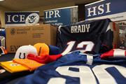 ICE and the NFL announced record-breaking results of a nationwide enforcement operation targeting stores, flea markets and street vendors selling counterfeit game-related sportswear throughout the United States.