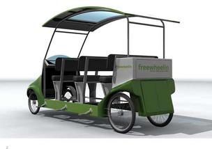 "Humana will provide ""Freewheelin pedal buses,"" for people attending the Republican National Convention."