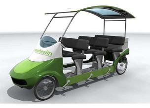 "Humana will provide ""Freewheelin pedal buses"" for people attending the Republican and Democratic national conventions."