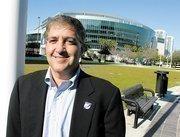 Jeffrey Vinik in front of the Forum.