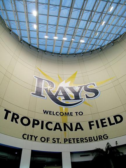 Tropicana Field in St. Petersburg