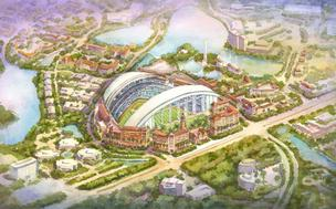 A proposed new stadium in Carillon could have a retractable roof.