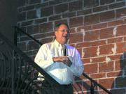 St. Petersburg Mayor Bill Foster speaks at the Keep Saint Petersburg Local launch party.