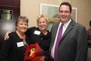 Jean La Fevers and Brenda Dohring Hicks visit with Editor Alexis Muellner.