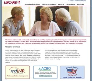 A look Lincare's website home page.