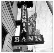 The old sign is currently owned by the Grimaldi family, who owned Columbia Bank.