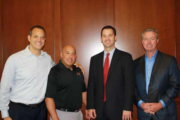 Zeno Office Solutions' Keith Roher and Tom Frederick, Terry Hedden, president of Zeno Technology Solutions, and Rick Lott, CEO of Zeno Office Solutions