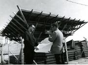 Local officials look at plans at the Pier, 1973.