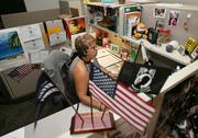 Yvonne Fontanes, Military OneSource SCC consultant, at her desk