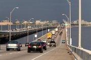 Cars head toward Tampa.