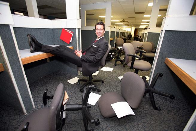 Blake Whitney Thompson in his newly purchased 200,000-square-foot office building in Largo.