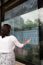 Grow Financial's downtown Tampa office features touch screens and a design that encourages interaction.