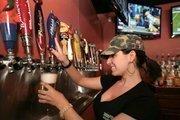 Bartender Tonya Pupko at Beef O'Brady's in Sarasota.
